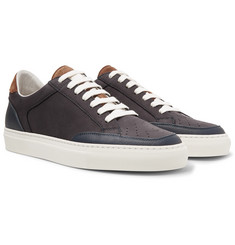 Brunello Cucinelli - Leather-Trimmed Nubuck Sneakers