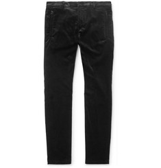 Balmain - Skinny-Fit Stretch-Cotton Velvet Skinny Trousers