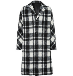 Joseph Albert Checked Brushed-Felt Coat
