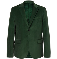 Joseph Davide Forest-Green Cotton-Corduroy Blazer
