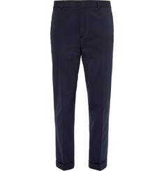 Joseph Navy Arthur Slim-Fit Stretch-Cotton Twill Trousers