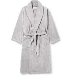 Cleverly Laundry - Striped Cotton-Terry Robe