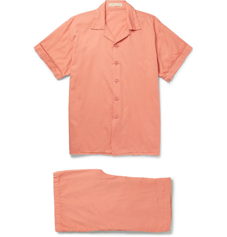 CLEVERLY LAUNDRY Washed-Cotton Pyjama Set in Pink