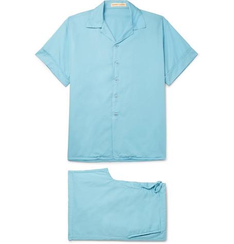 CLEVERLY LAUNDRY Cotton Pyjama Set in Light Blue
