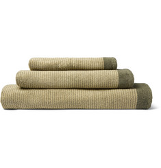 Cleverly Laundry Set Of Three Striped Superfine Cotton-Terry Towels