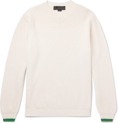 Stella McCartney - Stripe-Trimmed Virgin Wool Sweater