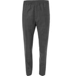 Stella McCartney Grey Slim-Fit Tapered Prince of Wales Checked Wool Drawstring Suit Trousers