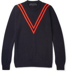 Stella McCartney Chevron Virgin Wool Sweater