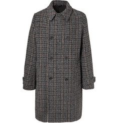 Stella McCartney - Lance Double-Breasted Checked Wool-Blend Tweed Coat