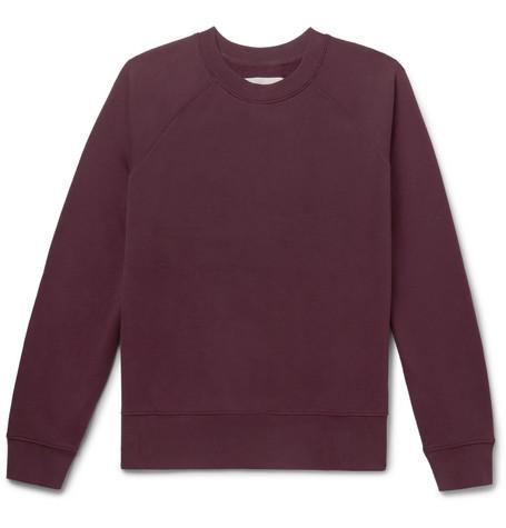 STUDIO NICHOLSON Loopback Cotton-Jersey Sweatshirt