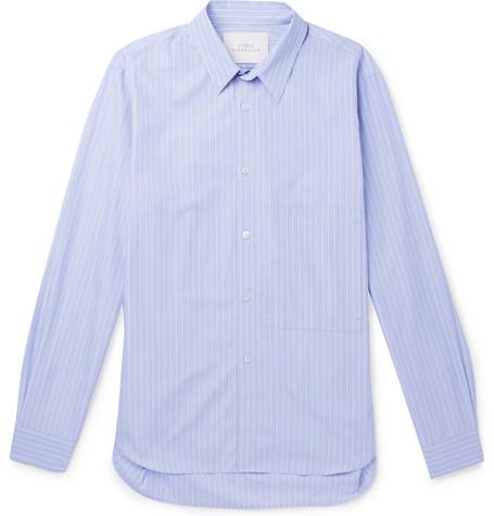 STUDIO NICHOLSON Pinstriped Cotton-Poplin Shirt