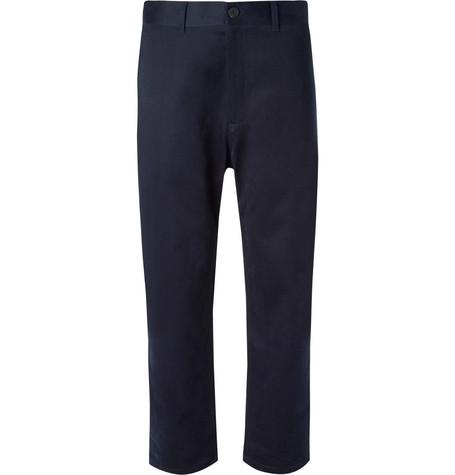 STUDIO NICHOLSON Bill Tapered Peached-Cotton Twill Trousers
