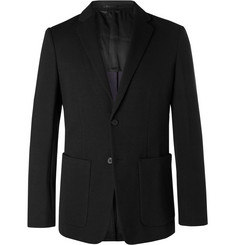 Theory Black Clinton Slim-Fit Unstructured Stretch-Ponte Blazer