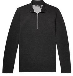 띠어리 Theory Slim-Fit Merino Wool-Blend Half-Zip Sweater,Charcoal