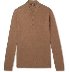 Theory Slim-Fit Ribbed Merino Wool-Blend Sweater