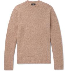 띠어리 Theory Highland Gaston Slim-Fit Melange Alpaca-Blend Sweater,Camel