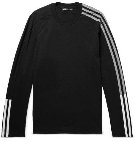 Y-3 Printed Cotton-blend Jersey T-shirt - Black WD5Kc