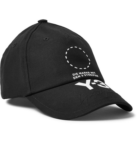 Embroidered Logo Print Stretch Cotton Baseball Cap by Y 3