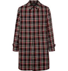 Undercover Reflective-Trimmed Checked Wool Coat
