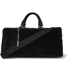 Saint Laurent Suede and Leather-Trimmed Corduroy Holdall