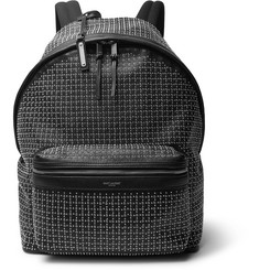 Saint Laurent City Stud and Eyelet-Embellished Leather Backpack