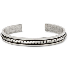 Saint Laurent - Burnished Silver-Tone Cuff