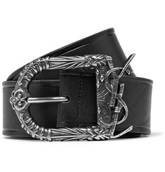 Saint Laurent 4.5cm Black Leather Belt
