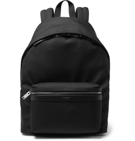 8cdd007c94 Saint Laurent - City Leather-Trimmed Canvas Backpack