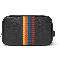 Paul Smith Webbing-Trimmed Full-Grain Leather Washbag
