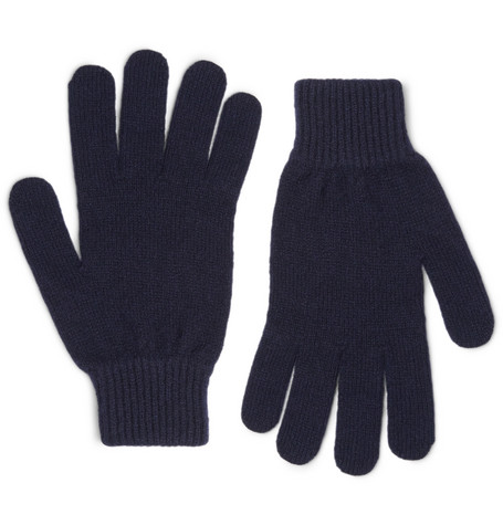 Ribbed Cashmere And Wool Blend Gloves by Paul Smith
