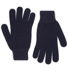 Paul Smith Ribbed Cashmere and Wool-Blend Gloves