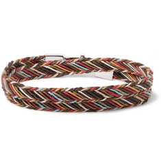 Paul Smith Woven Cotton Wrap Bracelet