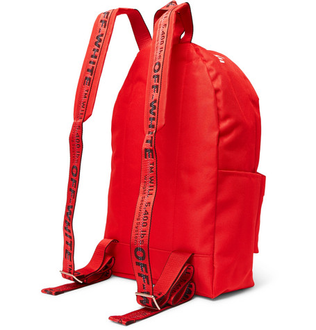 Printed Canvas Backpack by Off White