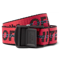 Off-White - 2.5cm Red Industrial Canvas Belt