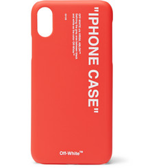 Off-White Printed Acrylic iPhone X Case
