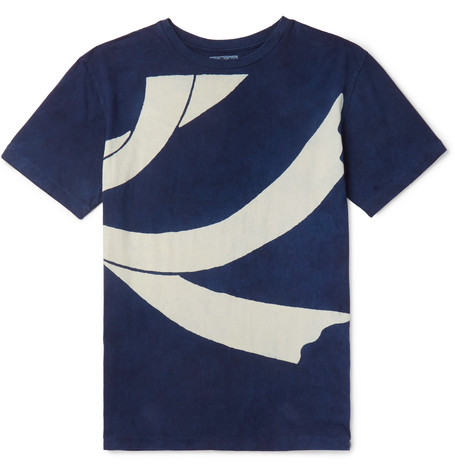 Slim Fit Printed Cotton Jersey T Shirt by Blue Blue Japan
