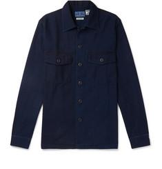 Indigo Dyed Cotton Twill Shirt by Blue Blue Japan