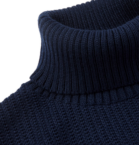 Knitted Rollneck Sweater by Blue Blue Japan