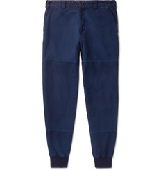Blue Blue Japan Tapered Indigo-Dyed Cotton-Twill Trousers