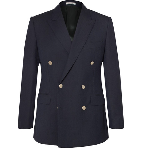 navy-slim-fit-double-breasted-wool-blazer by husbands