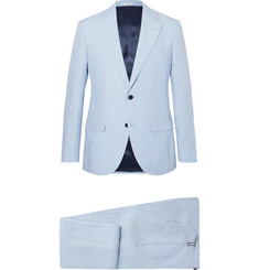 Husbands Light-Blue Slim-Fit Linen Suit