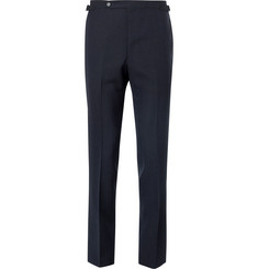 Husbands Navy Slim-Fit Wool Trousers