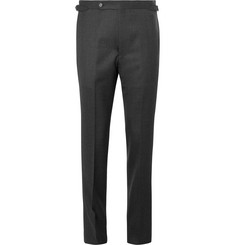 Husbands Grey Slim-Fit Wool-Flannel Trousers