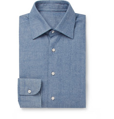 Husbands Blue Cotton-Chambray Shirt