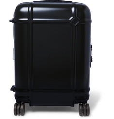 Globe Spinner 55cm Leather-trimmed Polycarbonate Carry-on Suitcase - Navy