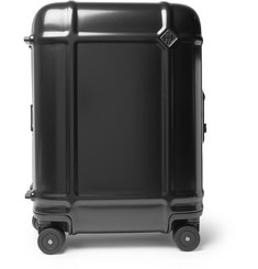 Fabbrica Pelletterie Milano Globe Spinner 55cm Leather-Trimmed Polycarbonate Carry-On Suitcase