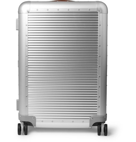 Fabbrica Pelletterie Milano Spinner 68cm Leather-Trimmed Aluminium Suitcase