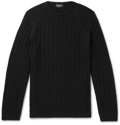 Giorgio Armani Slim-Fit Ribbed Cashmere Sweater