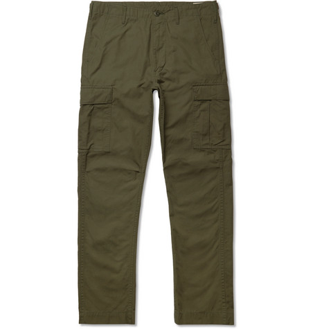 ORSLOW Cotton-Ripstop Cargo Trousers - Green