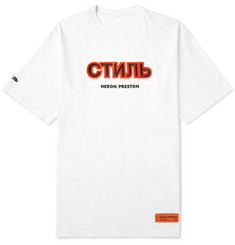 Heron Preston Oversized Appliquéd Printed Cotton-Jersey T-Shirt